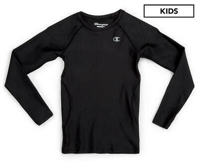 Champion Boys' Performax Long Sleeve Tee - Black