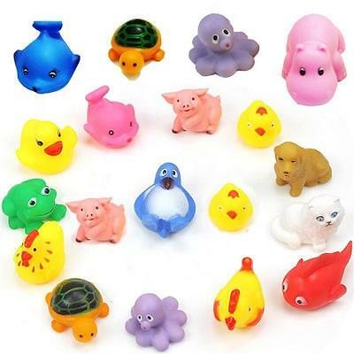 Safe Soft Rubber Float Sqeeze Sound Baby Wash Bath Play Animals Toys GameUAw