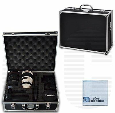 Heavy Duty Hard Case for DSLR Camera Camcorder Equipment Black Chrome With Foam
