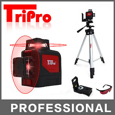 8 Lines 360° 3D Self Leveling Rotary Laser Level Multi Line Outdoor + Tripod