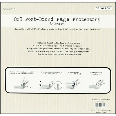 NEW Colourbok Top-Loading Page Protectors - Extenders & Spacer