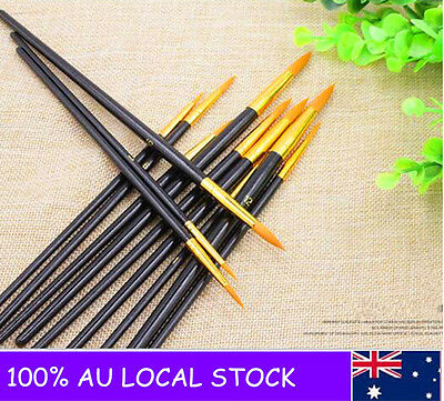 12pcs Brush Kit Fine Artist Paint Brush Set Oil Acrylic Watercolor Painting