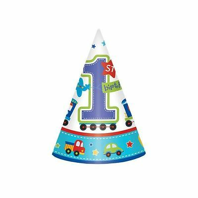 All Aboard Birthday Paper Cone Hats Baby 1st Birthday Party Favours