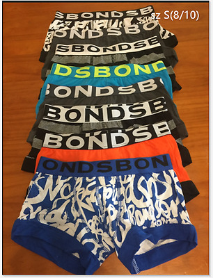8 x BONDS boys Fit Trunks underwear boxer shorts teenagers undies teens NEW