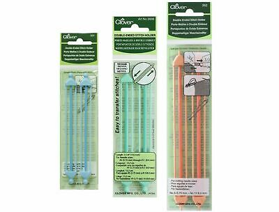 Clover 2x Double Ended Stitch Holders Small Medium Large Jumbo Cable Needles