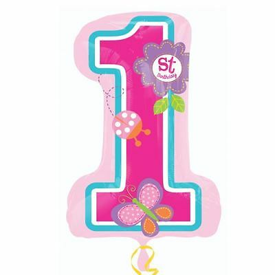Sweet Birthday Girl SuperShape 1 Balloon Baby 1st Party Decorations