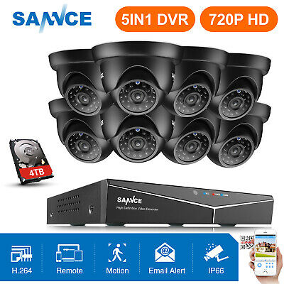 SANNCE 8CH 1080N 5in1 DVR 1500TVL 720P Outdoor CCTV Security Camera APP Remote