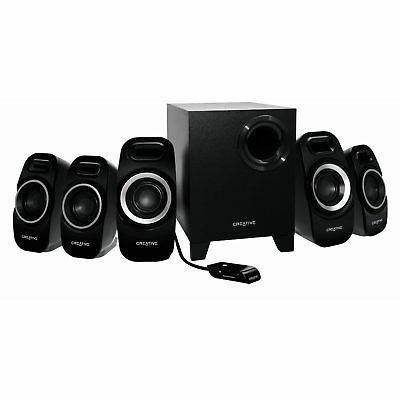 Creative 5.1 Channel T6300 Speaker System Computer PC Natural Compact Bass