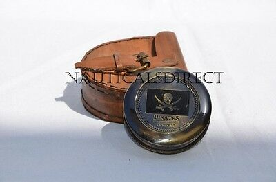 Antique Vintage Style Brass Pocket Pirates Compass