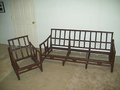 VINTAGE FICKS REED RATTAN BAMBOO Sofa & chair