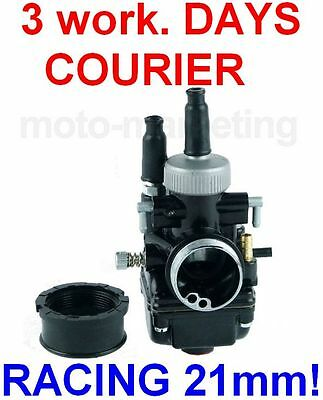 RACING CARB CARBURETOR 21mm CABLE CHOKE for GILERA DNA GP EXPERIENCE 50 LC