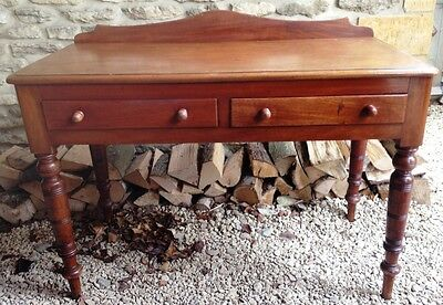 ~Antique Victorian  Mahogany Gallery Back Console Hall Table~   547