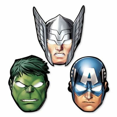 8 Marvel Avengers Paper Face Mask Childrens Birthday Party Favours Thor Iron Man