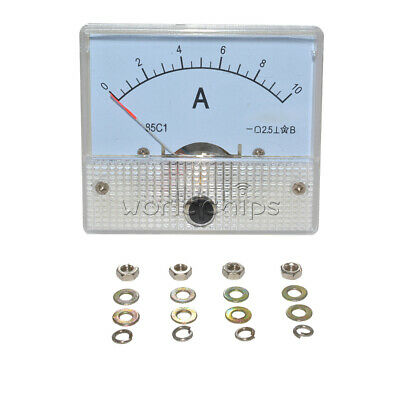 DC0-10A 85C1 Analog Panel AMP Current Testing Meter Ammeter Gauge White Tool