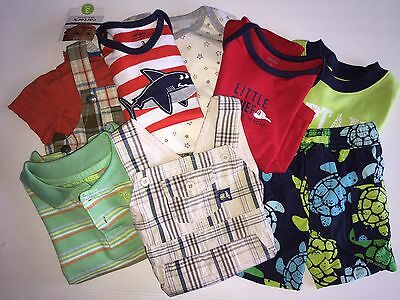 Lot of 7 Infant Baby Boy Summer Outfits Bathing Suit Size 0-3 Months NWT