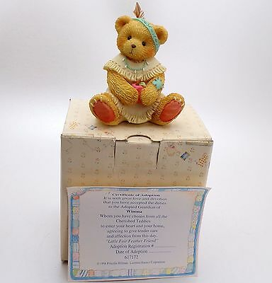 Cherished Teddies - Winona 'Little Fair Feather Friend'  Boxed With Certificate