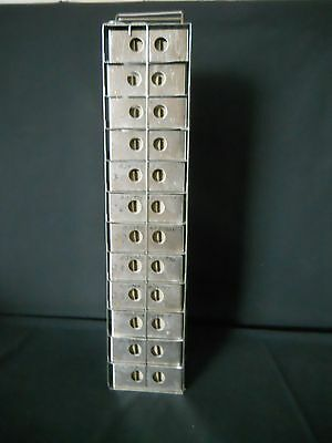 "12 Box S.S. Vertical Freezer Rack, 1.75"" High 5"" x 5"" Boxes w/ 81 Cell Divider"