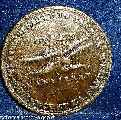 1824 Upper Canada , Lesslie and Sons Half Penny Token.Breton #718, UC 2A1