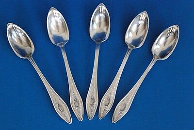 Sterling Silver Mary Chilton Pat. By Towle Grapefruit Spoons -5 Pcs,  Monogramed