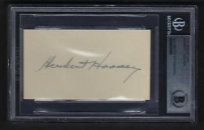 Herbert Hoover signed card BAS Authenticated 31st US President