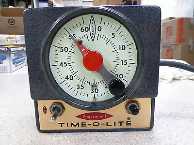 Vintage TIME-O-LITE P-59 Professional Dark Room 60 Second Timer Darkroom. Works!