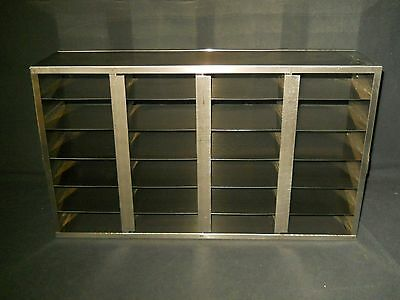 """Upright S.Steel Freezer Rack for 2"""" High Boxes, Holds 24 Boxes, 21.75"""" x 12.75"""""""
