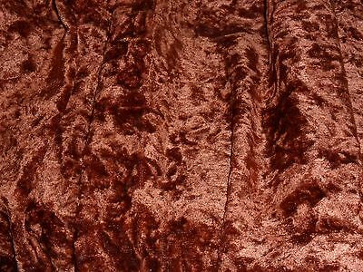 Antique French Crushed Velvet.brown Cognac.