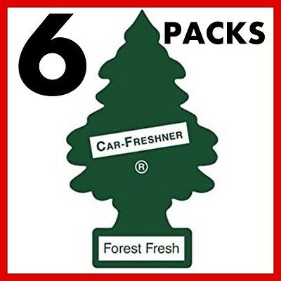 6 x Magic Tree Little Tree Forest Fresh Fragrance Car Van Air Freshener Packs