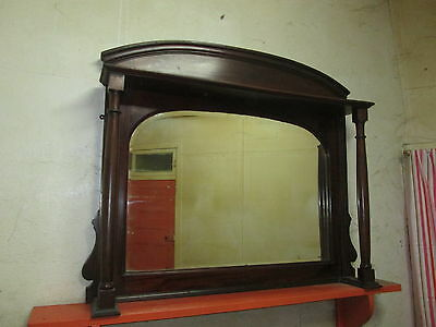 Large  Antique overmantle / Wall  mirror /sideboard mirror