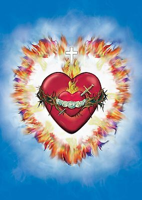 Religious Image/Icon United Hearts of the Holy Trinity+Immaculate Heart of Mary