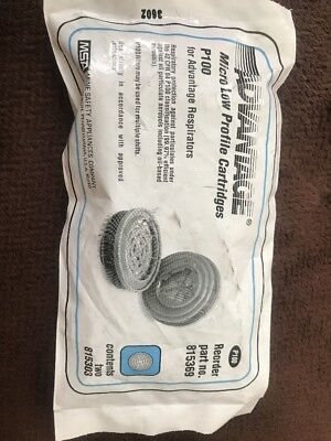 2 Pack MSA Advantage P100 Low Profile Cartridge 815369 New Respirator Filter