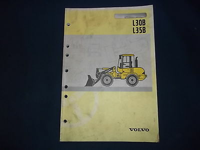 Volvo L30B L35B Wheel Loader Operation & Maintenance Book Manual