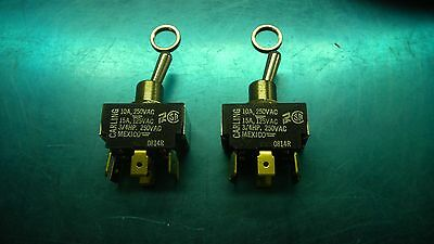 Carling Heavy duty A/C rated DPDT toggle Switch  2GL51-73 NOS, ON/NONE/ON