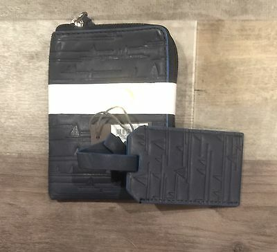 New Auth Fossil Passpart Holders Rfid Regtta Navy And Luggage Tag