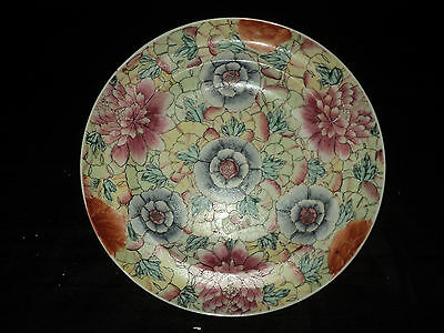 Antique Chinese Allover Floral Bowl