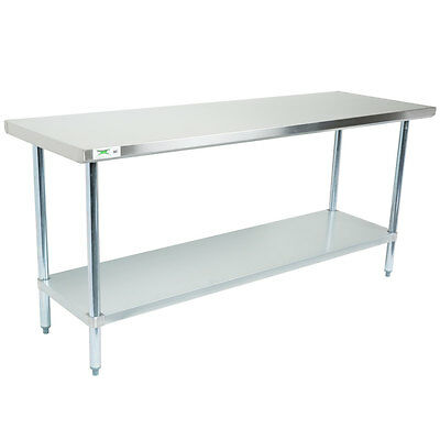 "Regency 30"" x 72"" Stainless Steel Work Prep Table Commercial Restaurant 18 Gauge"