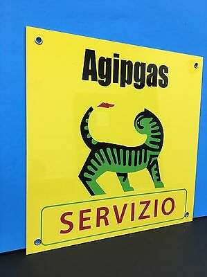 Vintage Rare Italian Agip oil Servizio Reproduction Sign Alfa Fiat Ferrari