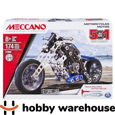 Meccano 17202 Motorcycles 5-Model Set (NEW 2017 Version)