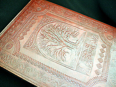 Very Large Pagan Wicca Handmade Leather Tree of Life ALTAR BOOK Book-of-Shadows