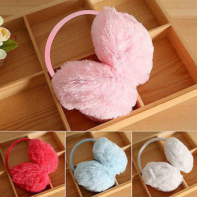 Women Men Winter Round Plush Ear Pad Back Wear Warmers Earmuffs Headband Worthy