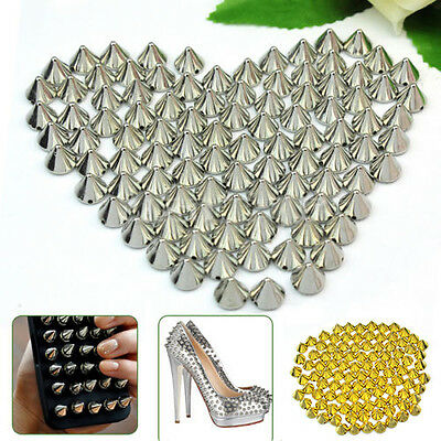 100Pcs 10mm Stud Round Spike Rivet Craft Bag Leather Craft Accessory DIY Worthy
