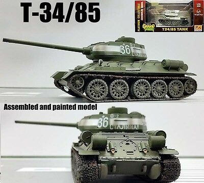 WWII Russian T-34-85 tank 1944 1/72 finished no diecast Easy model