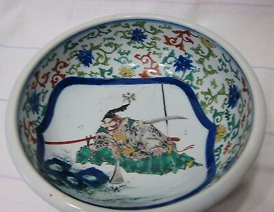 Antique porcelain bowl, Chinese or Japanese very fine hand decorated