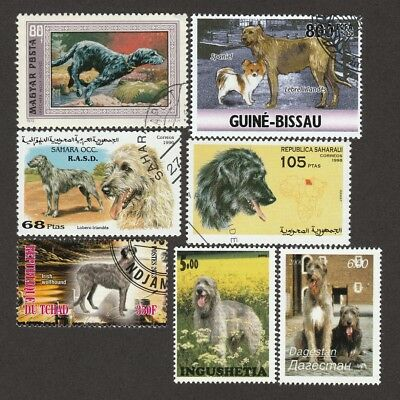 IRISH WOLFHOUND **Int'l Dog Postage Stamp Collection **Great Gift Idea**
