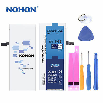 Original Nohon Replacement Battery For Iphone 4 4S 5 5S 6 6S 6/6S Plus/7 W/Tools
