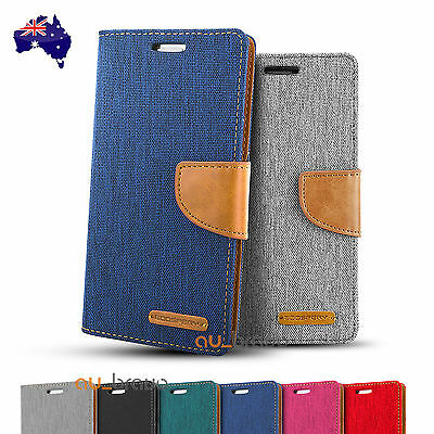 Samsung S7/Edge S5 Mercury Leather Card Wallet Case Cover Goospery Canvas Diary
