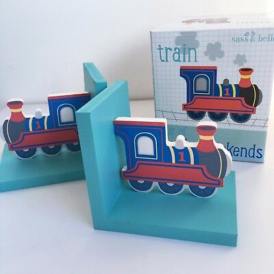 Sass & Belle Pair of Wooden Car Bookends Children's Room Decorations