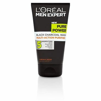 L'Oreal Men Expert Pure Power Black Charcoal Wash 150ml 1 2 3 6 Packs