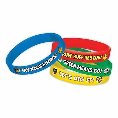 4pk Paw Patrol Rubber Bracelets Birthday Party Loot Bag Favours