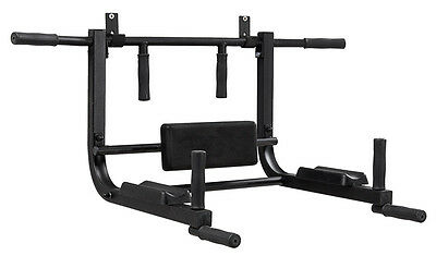 Pull Up Bar Wall Mounted Chin Ups Exercise Home Gym Cross Fit Multi Grip Steel